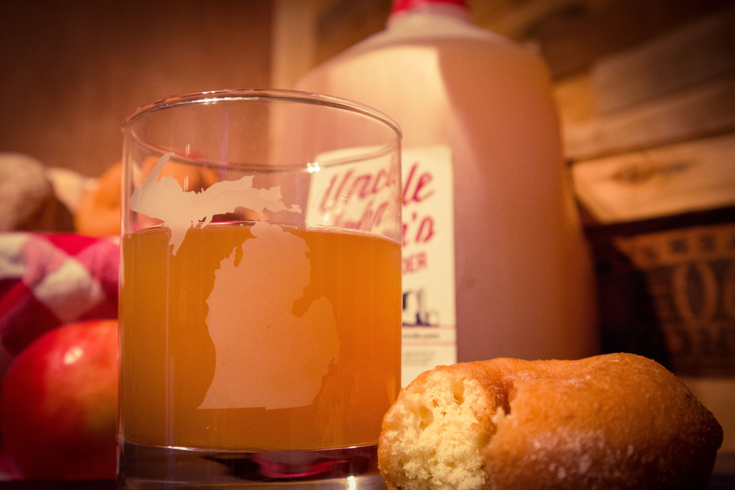 6. Once bottled, the cider is yours to enjoy. Don't forget the donuts!