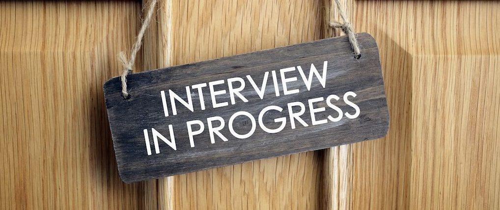 Interview in progress sign on door, ARRAs Healthcare clients are hiring