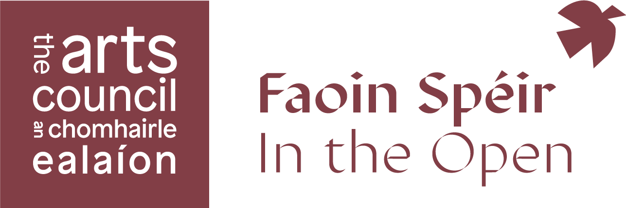 In the Open | Faoin Spéir is an Arts Council funded programme developed in response to the COVID-19 crisis for 2021 which will see a variety of outdoor arts events taking place in public spaces around Ireland. Led by Tipperary County Council.