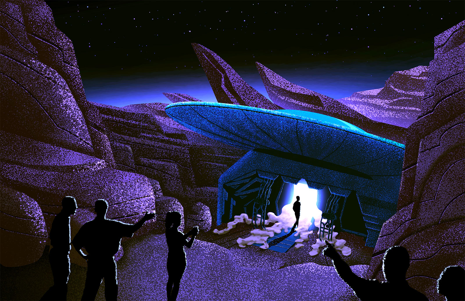 Area 52 - Immersive Walkthrough Experience Concept Illustration