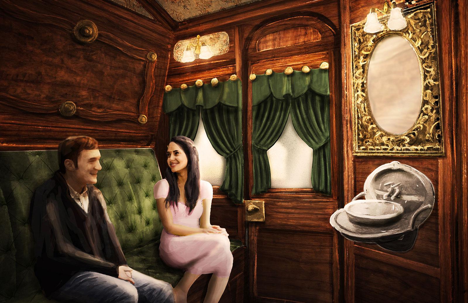 Beyond The Veil - Immersive Hotel Concept Illustration