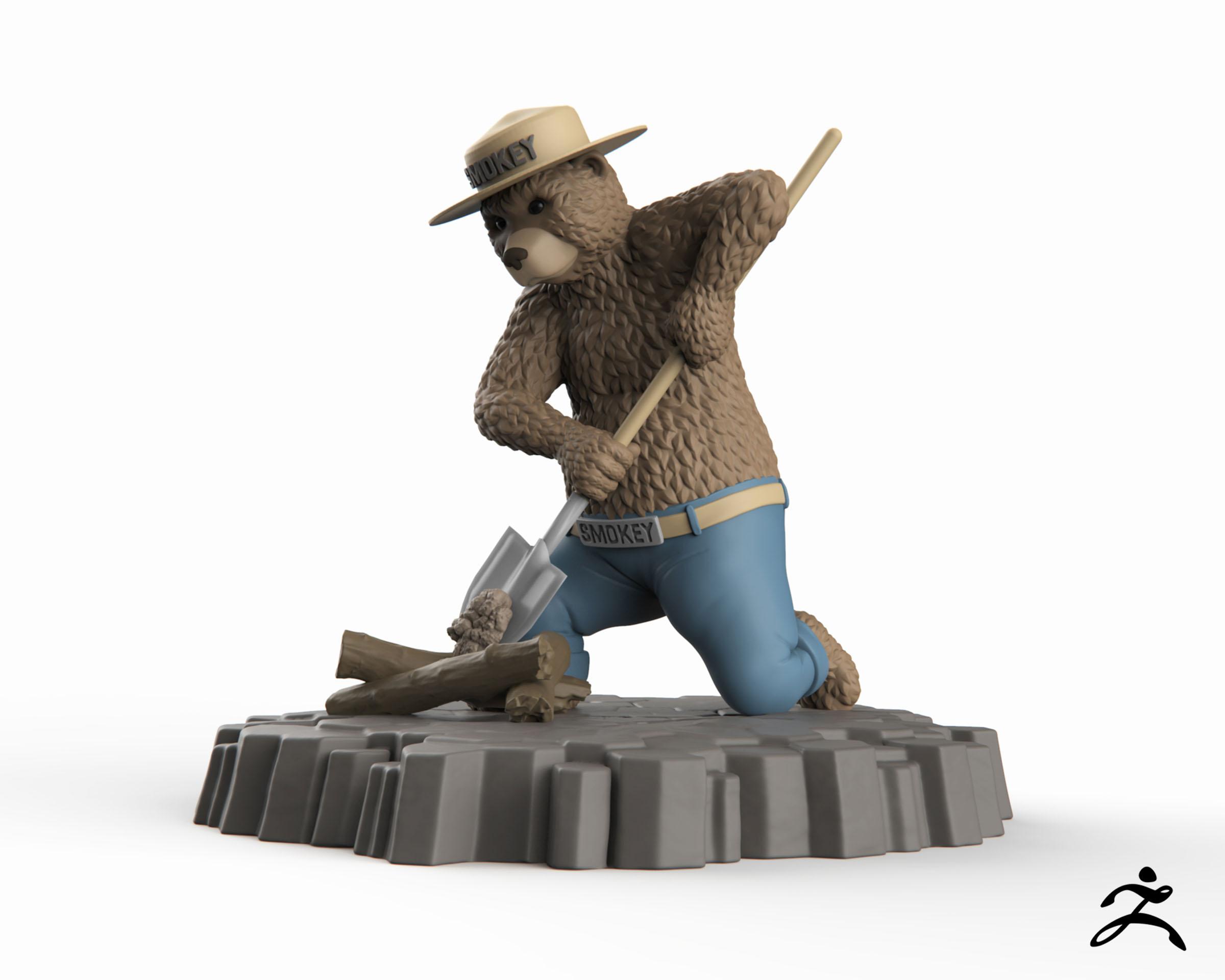 Smokey Bear Digital Sculpture