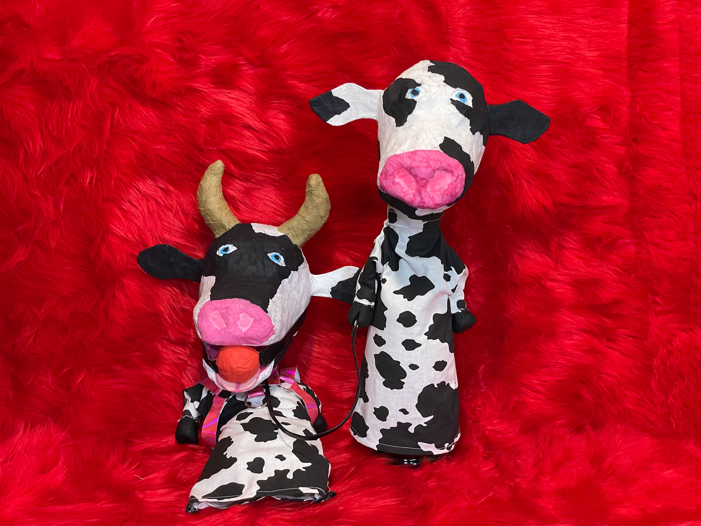 Walk the Cow - Dom and Sub Cow Puppets