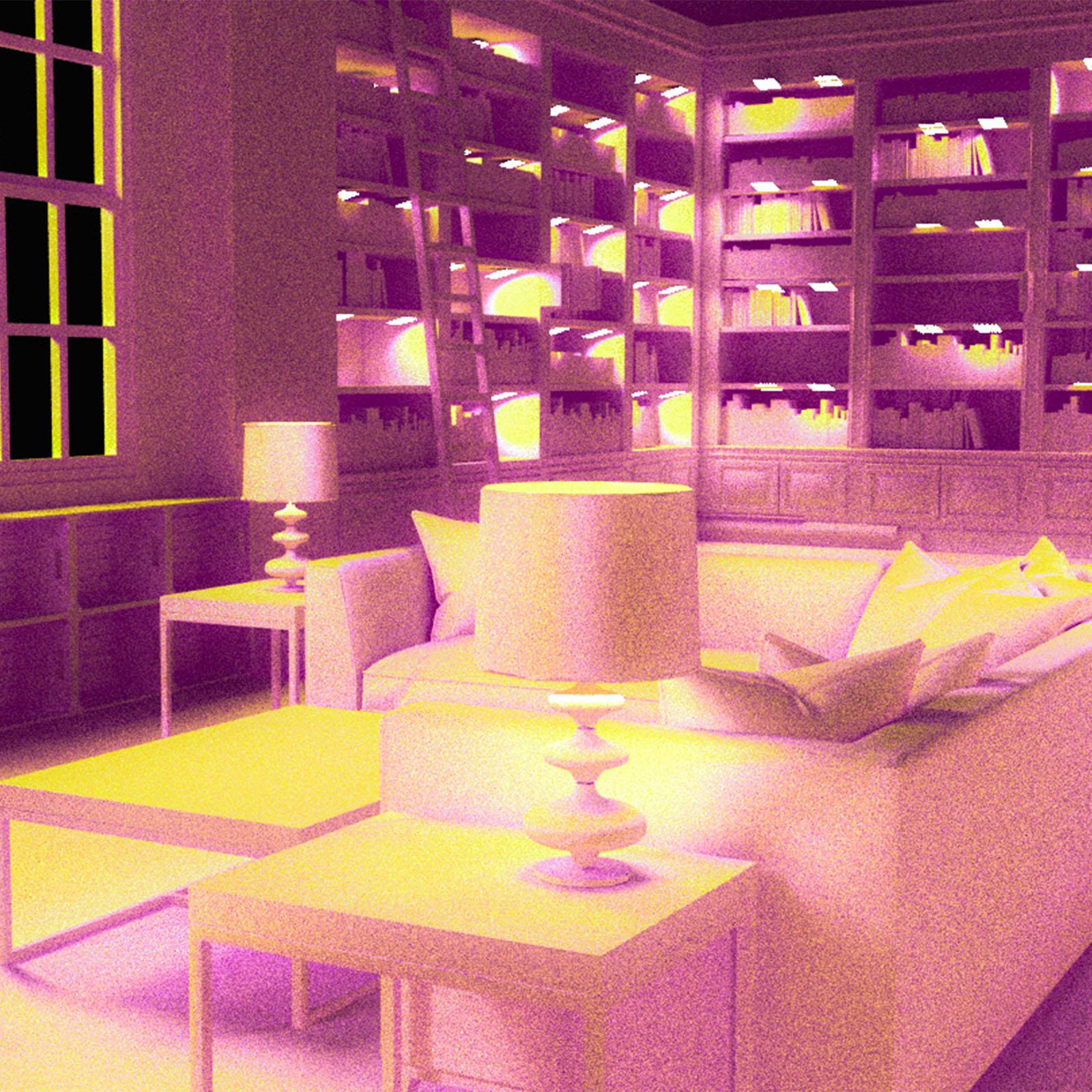 Virtual Reality- Pink and Yellow Living Room virtual reality