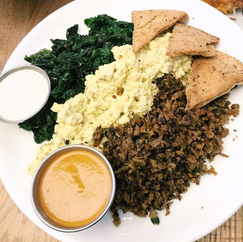 vegan breakfast plate
