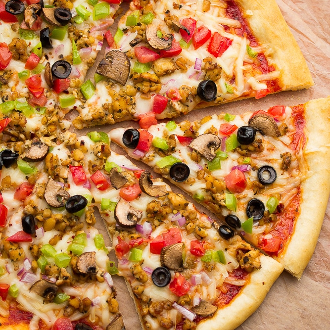 Pizza Pronto vegan pizza
