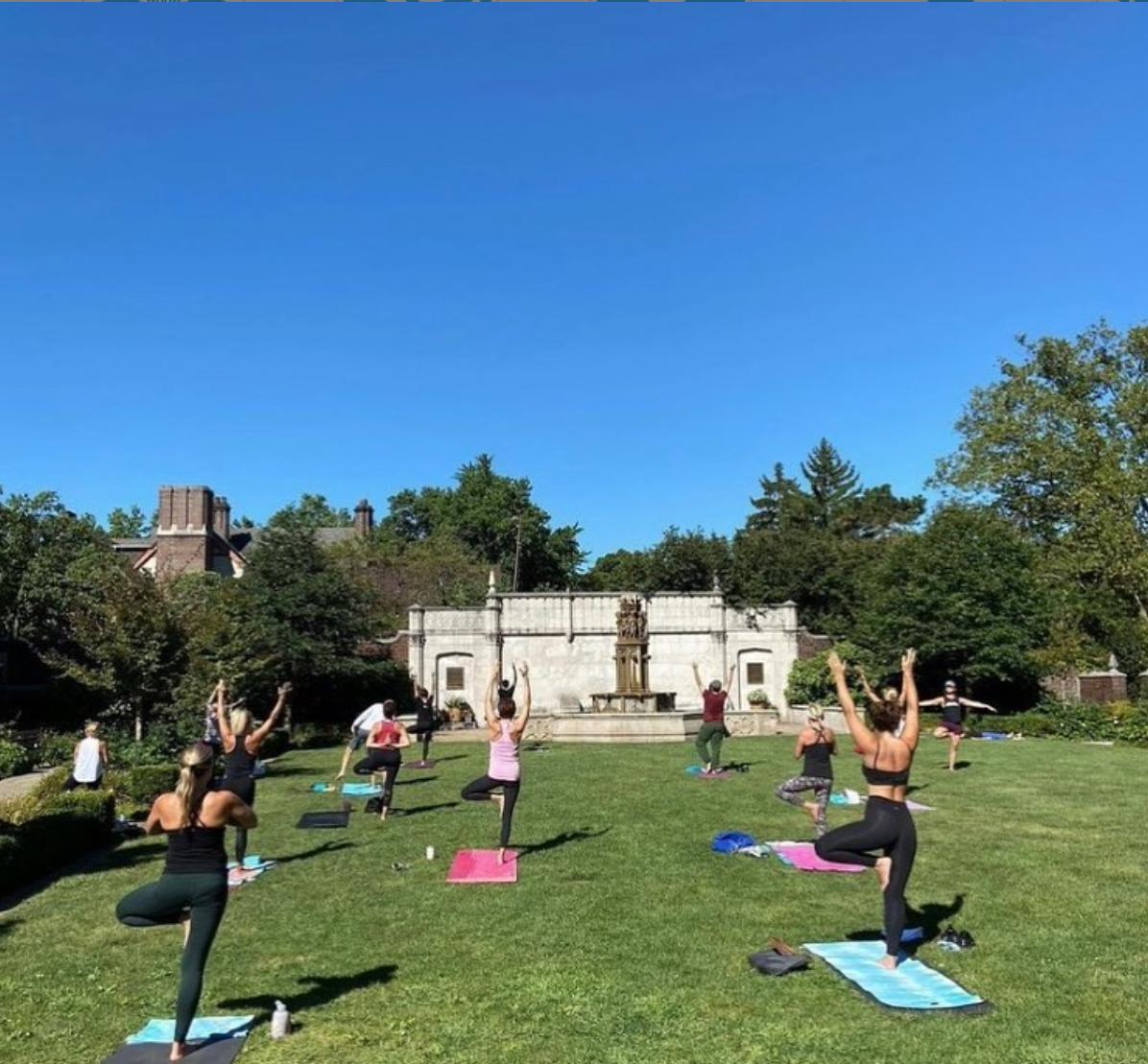 outdoor yoga with Amazing Yoga