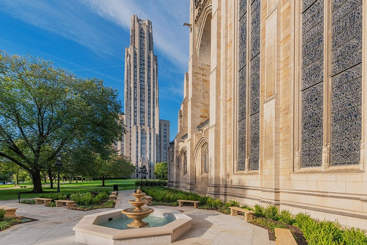 View of the Cathedral of Learning from Heinz Chapel