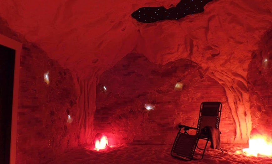 Red salt spa room