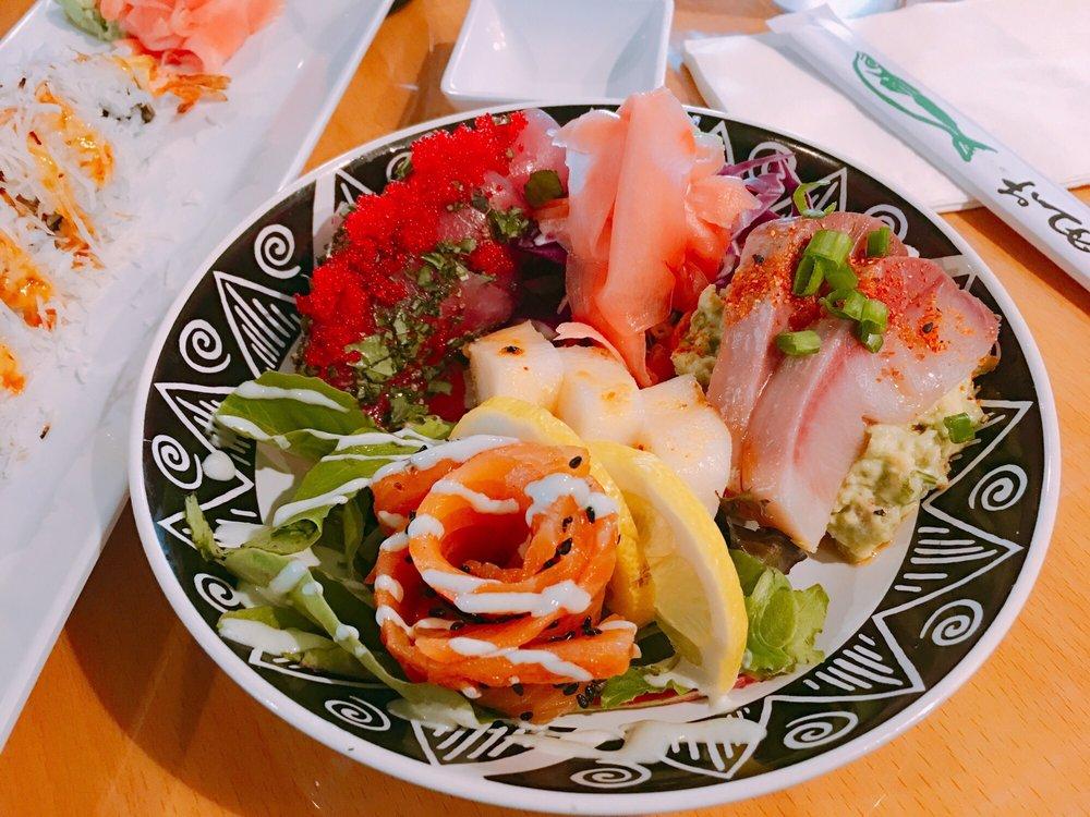 sushi platter from the Slippery Mermaid