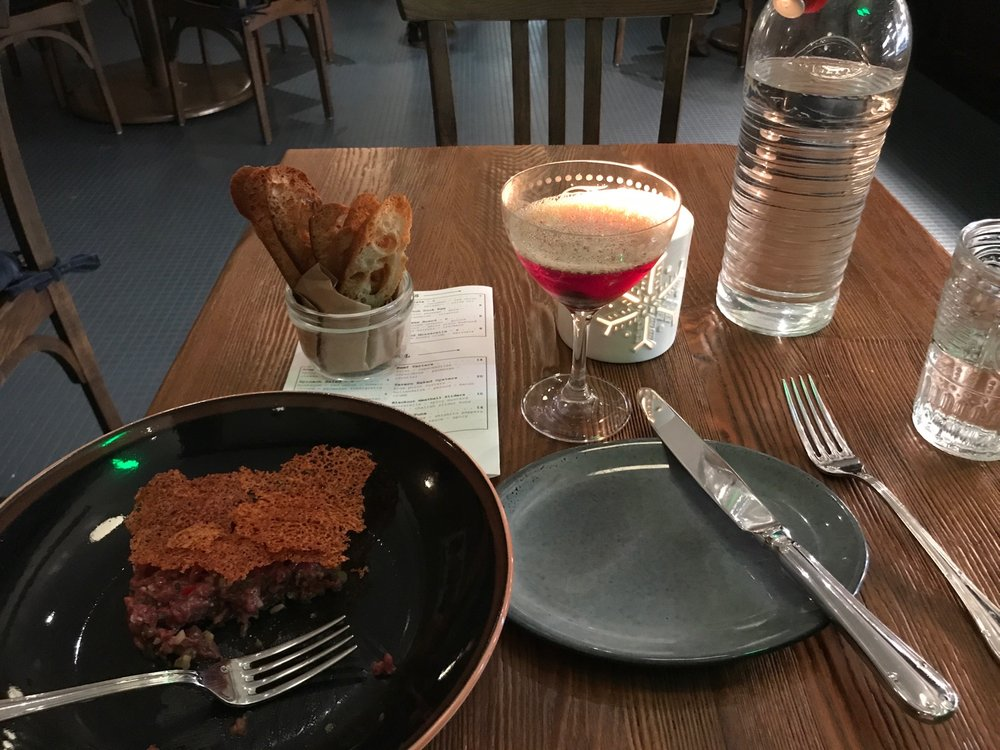dessert and drinks from the Sewickley Tavern