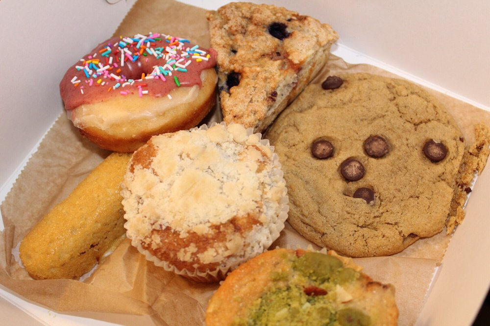 box of baked goods from Onion Maiden