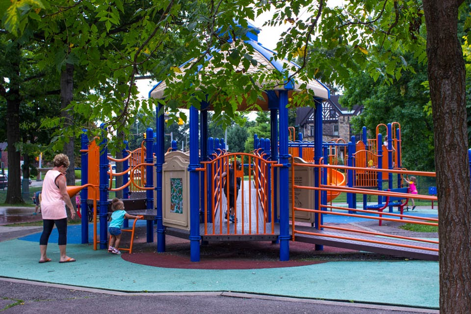 Colorful playset at Mellon Park