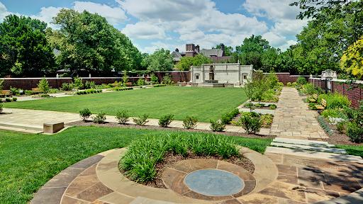 View of Mellon Park's gardens