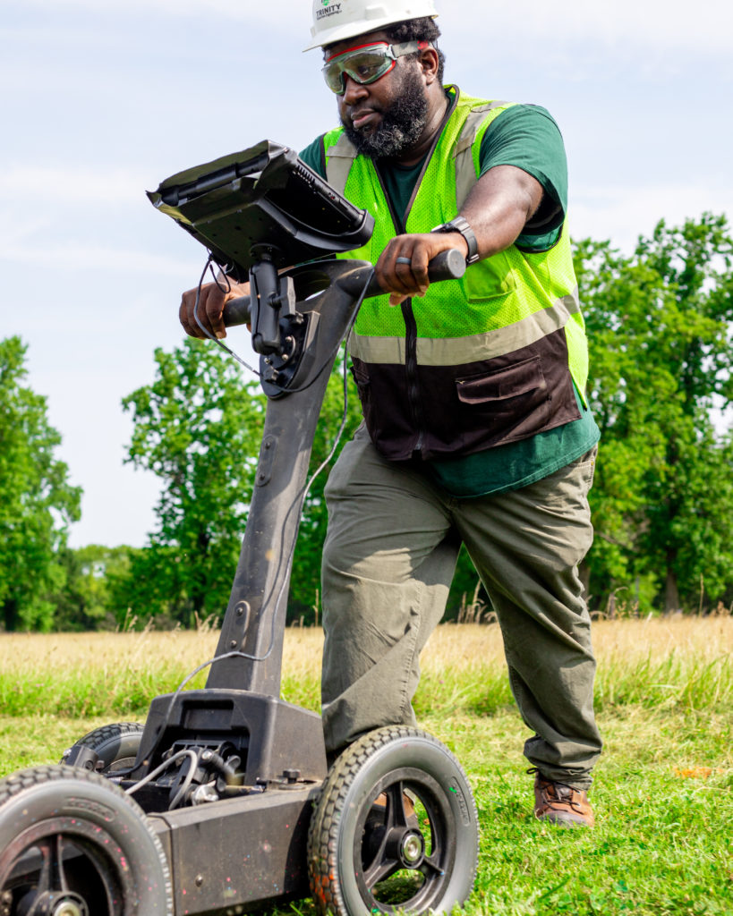 private utility locating at trinity subsurface ground penetrating radar