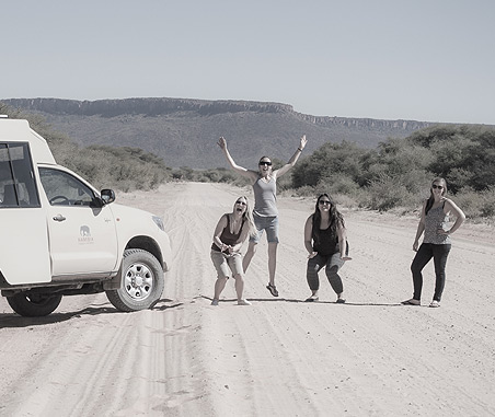 Namibia Tours & Safaris consultants on an educational road-trip