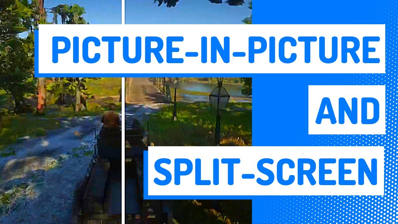 How to make a picture in picture effect online: