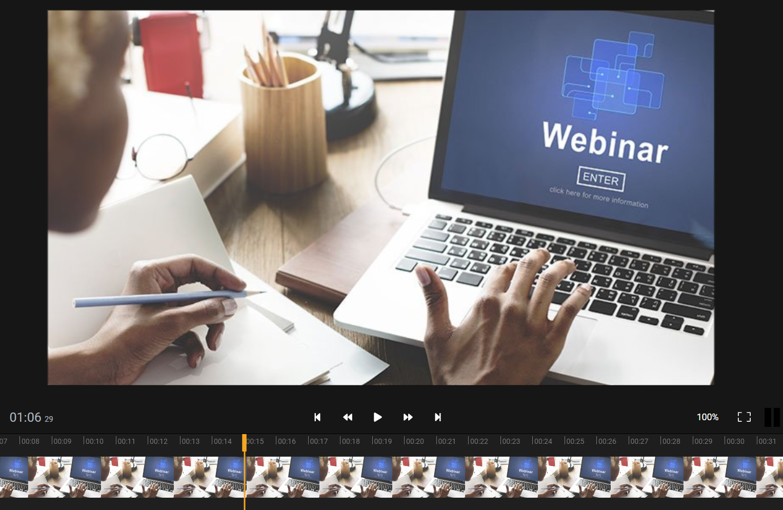 How to edit a webinar recording online