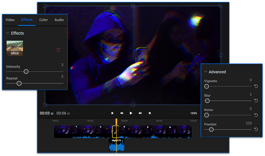 How to add a glitch effect to your video