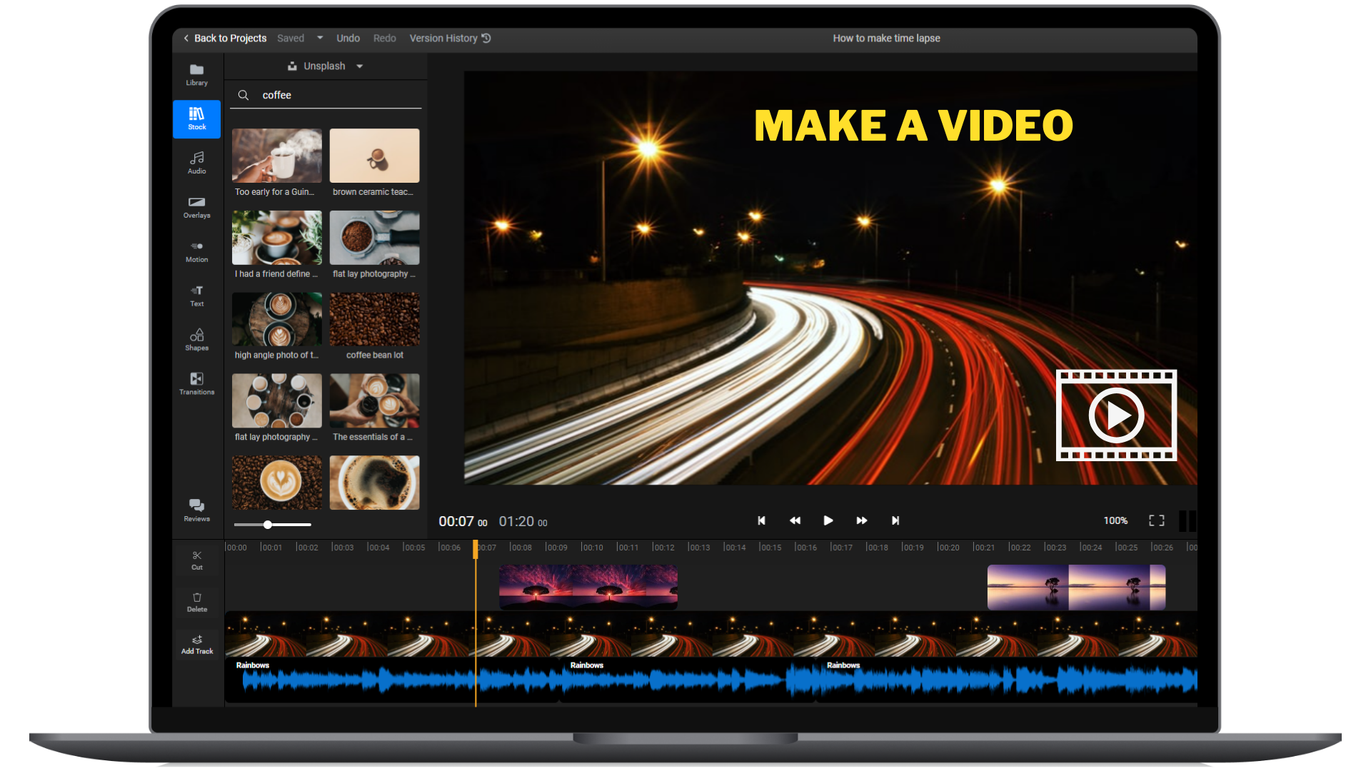 Add images to your video online