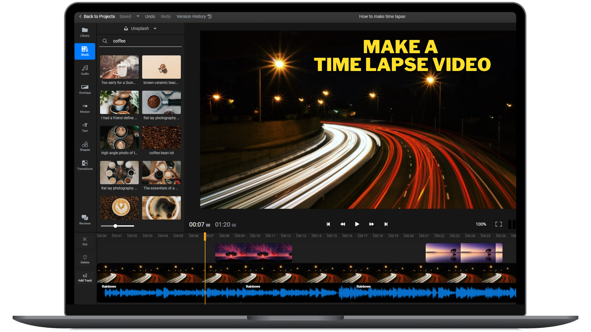 How to make a timelapse video