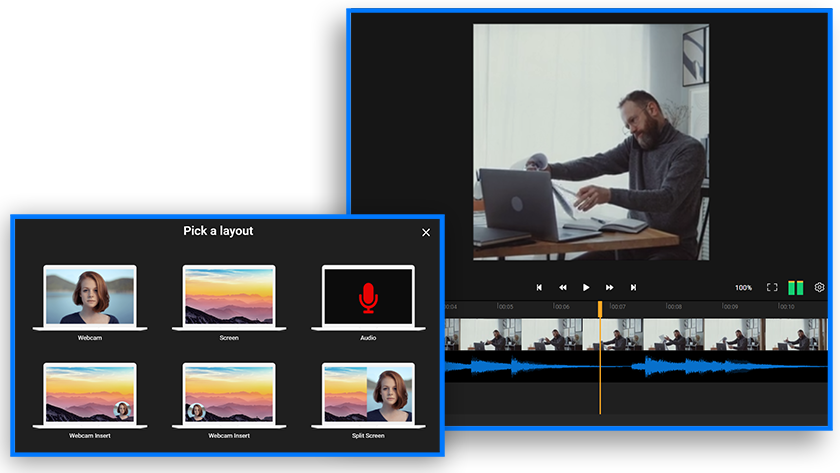 How to record videos using our online webcam recorder
