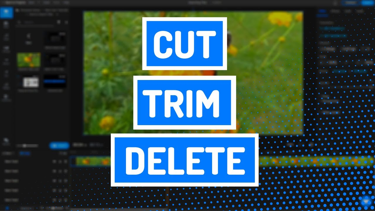 How to trim clips online: