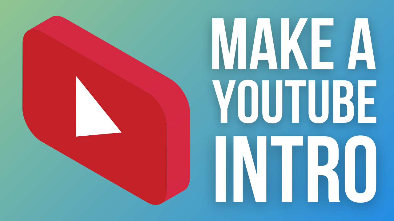 How to make a youtube intro video with Flixier: