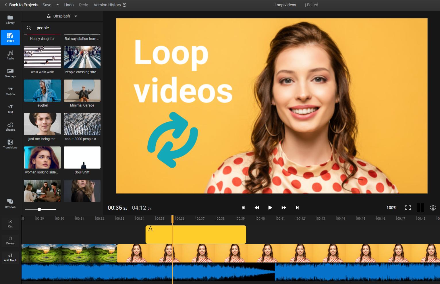 Loop video online in minutes