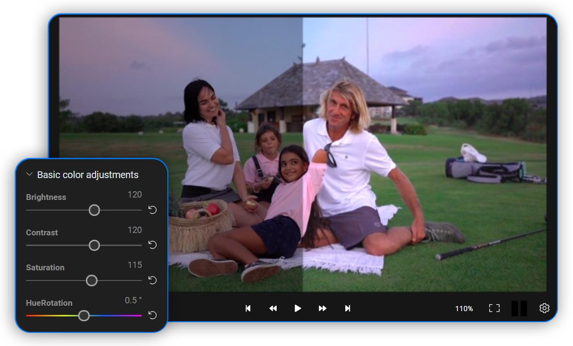 Adjust videos online