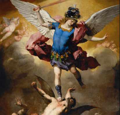 painting of the Archangel Michael defeating his enemies