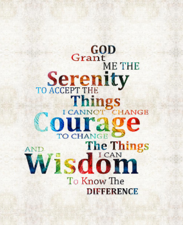 graphic of the serenity prayer
