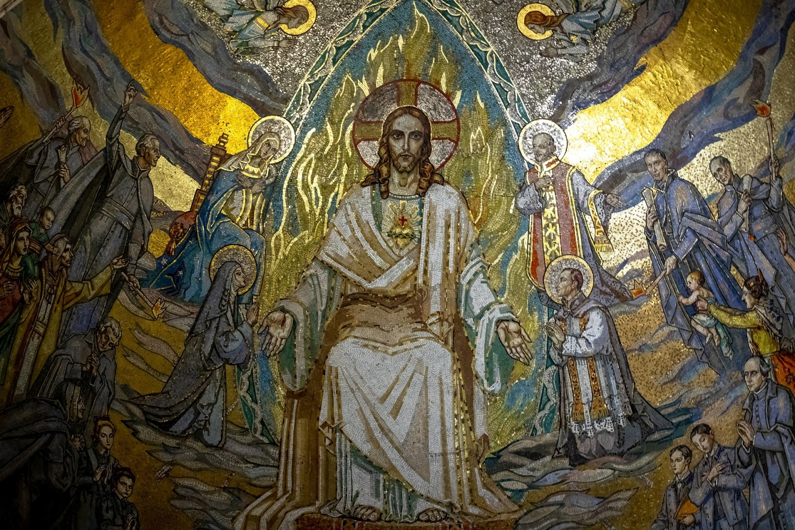 mural of Jesus and disciples
