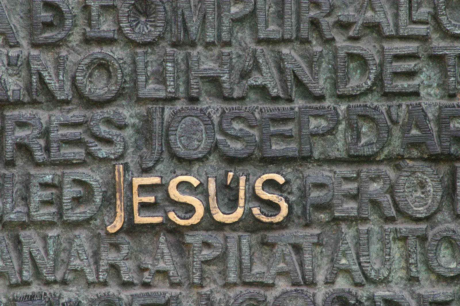 Engraved name of Jesus