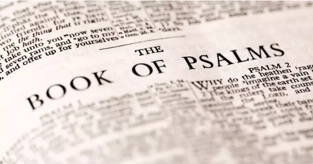 closeup of the book of Psalms