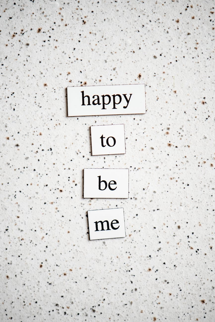 """Titles that say """"happy to be me"""""""