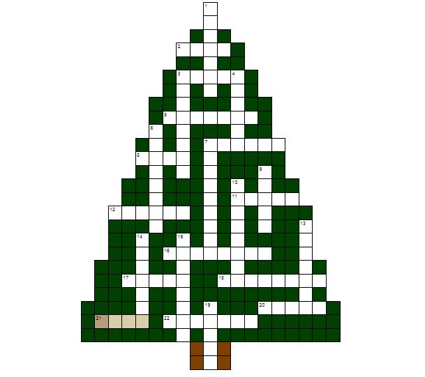 Grelha de Palavras Cruzadas com �rvore de Natal