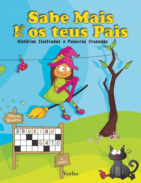 Os livros Sabe mais k(que) os teus Pais de Paulo Freixinho, Sílvia Alves e Maria Del Toro ensinam o português aos mais novos através das palavras cruzadas.