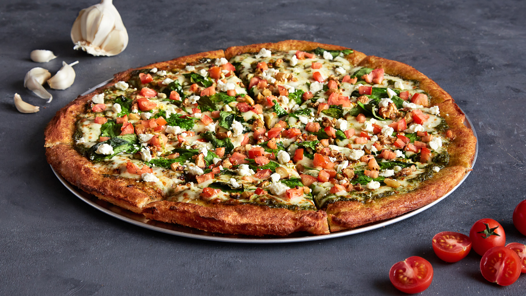 Oath's build your own pizza on a new! large thick crust.