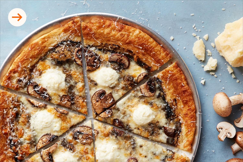 Muffled Trushroom Pizza at Oath Pizza