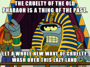 The illustration of Pharaoh