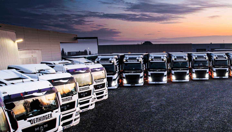 Lkw-Flotte von Denkinger