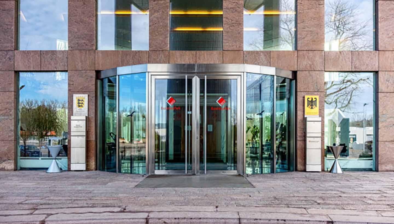 Eingangsbereich Businesspark Ehingen