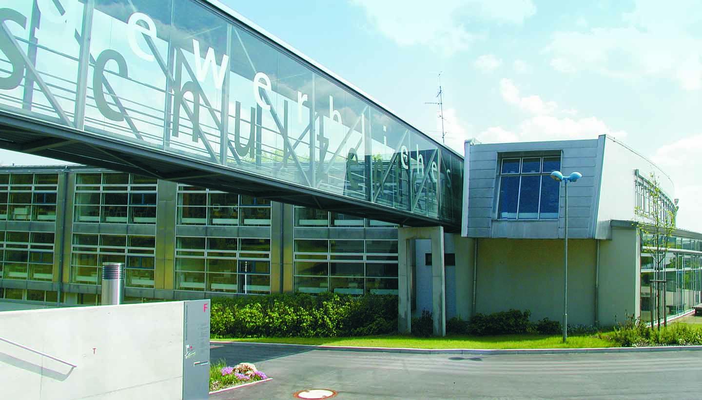 Das Gebäude der Gewerblichen Schule Ehingen
