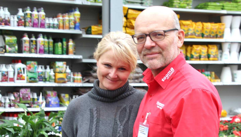 Ute und Jens Heimann vom toom Baumarkt in Ehingen