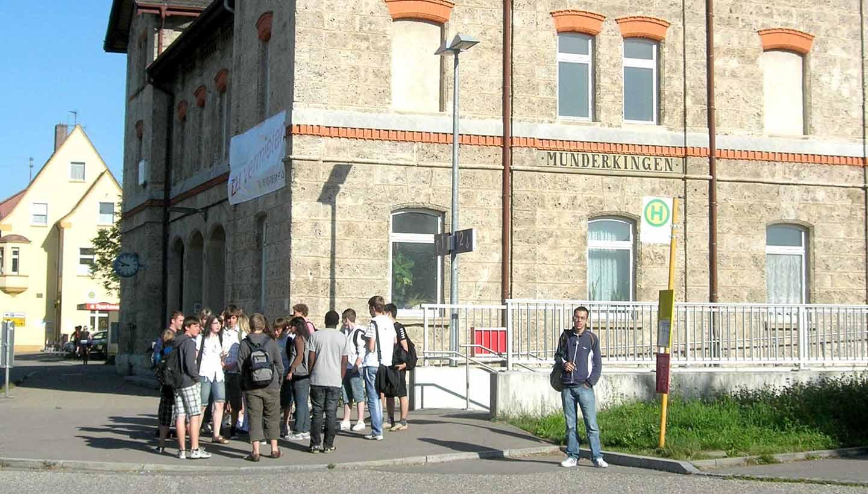 Bahnhofsgebäude in Munderkingen