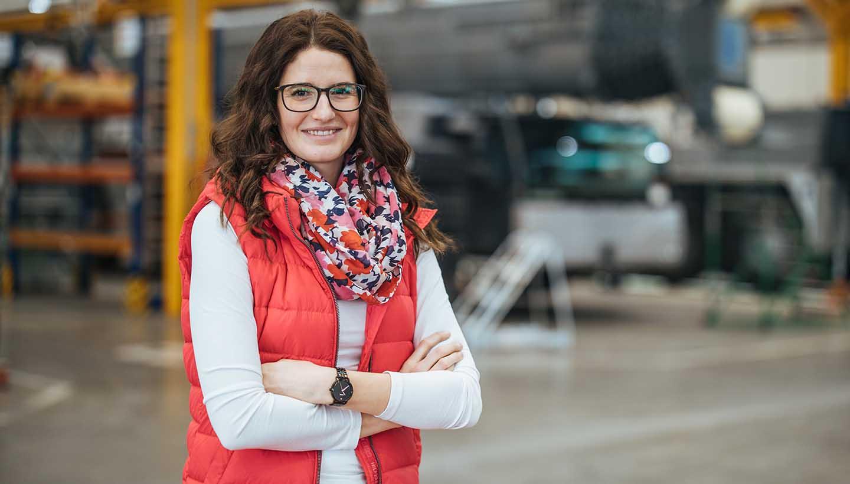 Isabell Blaser, Teamleiterin im Liebherr-Werk Ehingen