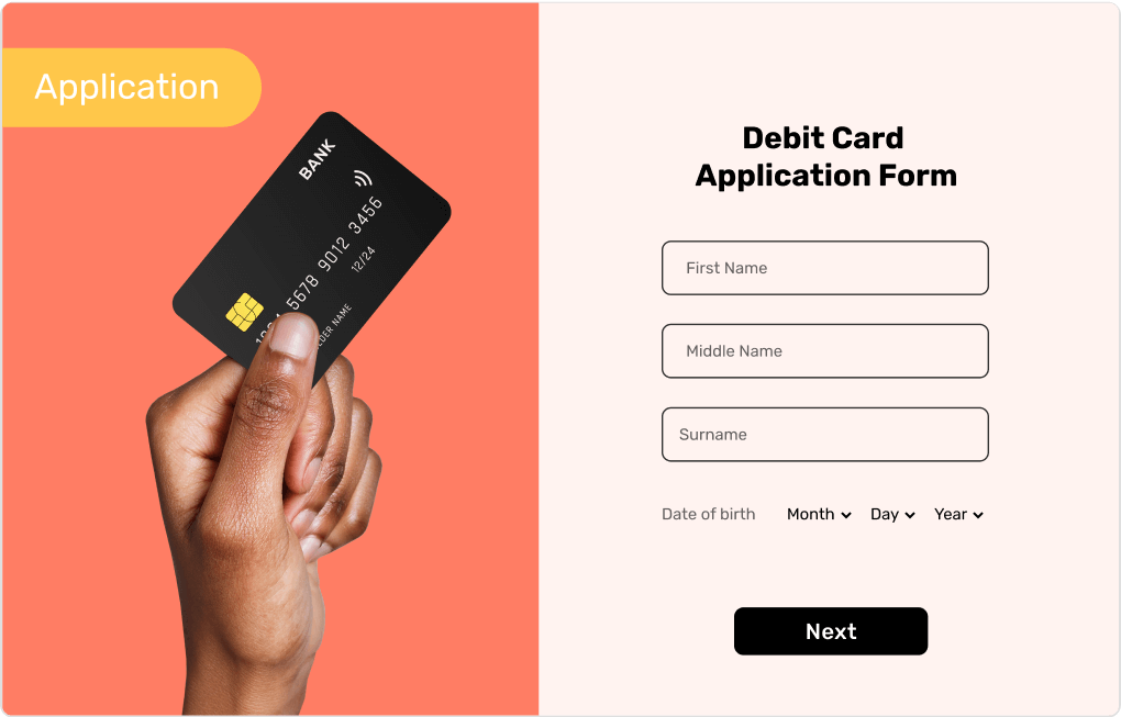 Debit Card Application