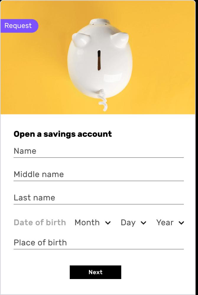 Savings Account Opening