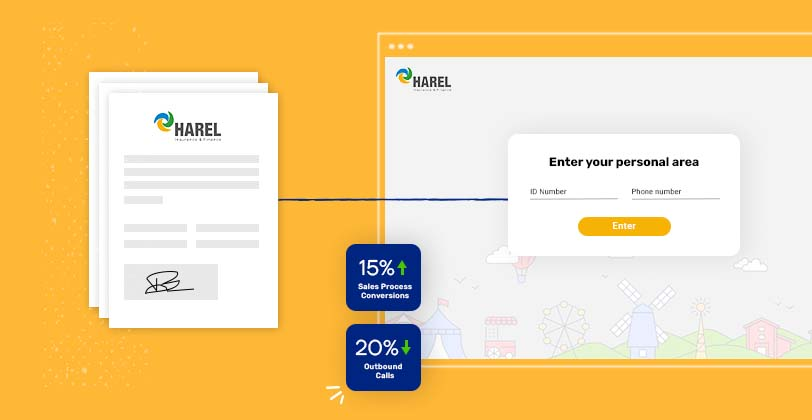 How Harel Insurance improves sales process conversions by 15% while reducing outbound calls to customers by 20%